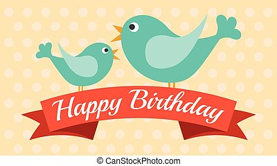 Cute card for Birthday, Vector illustration