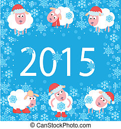 Cute card for New Year