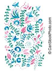 Cute card with a floral print