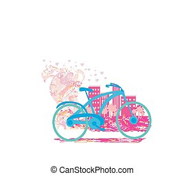 Cute card with bike.