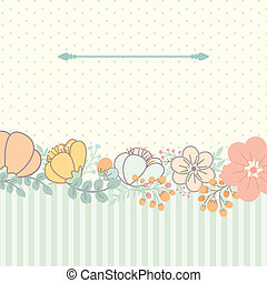 Cute card with flower bouquet