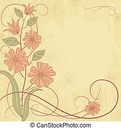 Cute card with flowers