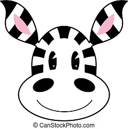 cute, caricatura, zebra