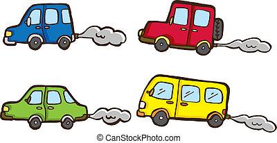 cute cars doodle