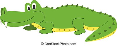 Cute cartoon alligator vector illustration