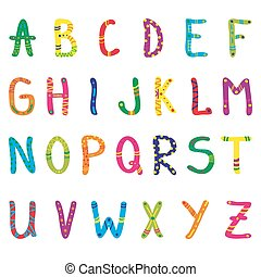 Cute cartoon alphabet for children