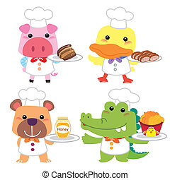 cute cartoon animal cook collection