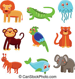 Cute cartoon animals