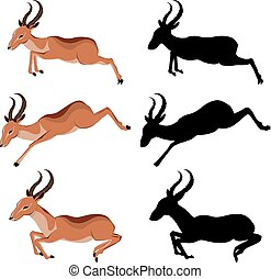 Cute Cartoon Antelope - Illustration of cute antelope,...