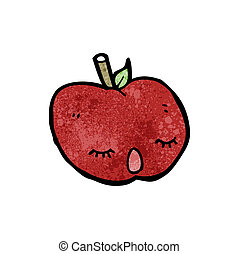 cute cartoon apple
