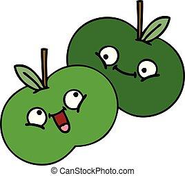 cute cartoon apples