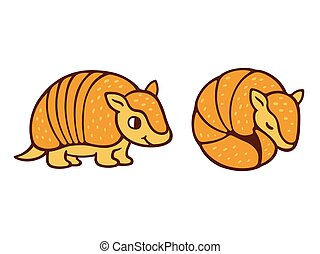 Cute cartoon armadillo