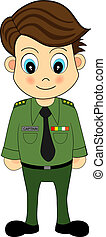 Cute Cartoon Army Officer
