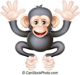 Cute Cartoon Baby Chimp