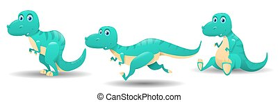 Cute cartoon baby dinosaur