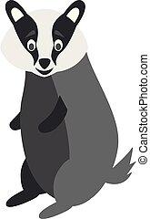 Cute cartoon badger vector illustration