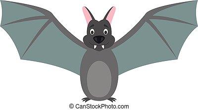 Cute cartoon bat vector illustration