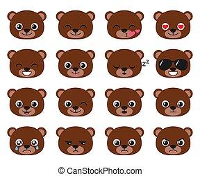 Cute cartoon bear emoj
