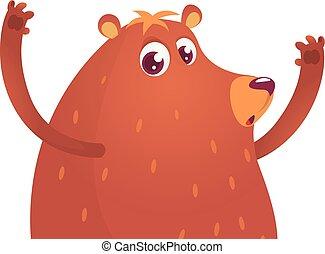 Cute cartoon bear. Vector illustration