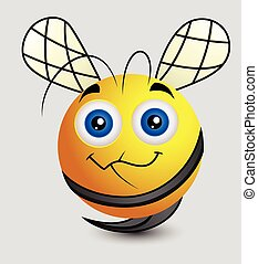 Cute Cartoon Bee Smiley