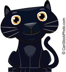 Cute cartoon Black Panther