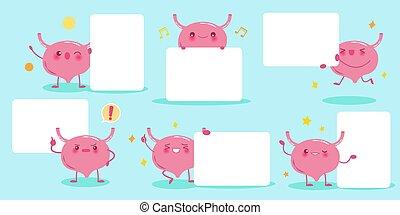 cute cartoon bladder