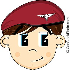 Cartoon British Army Soldier