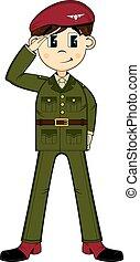 Cartoon British Army Soldier