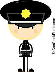 Cute Cartoon British Policeman