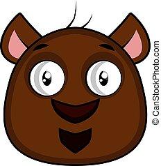 Cute cartoon brow bear vector illustartion on white background