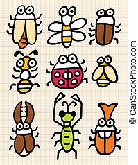 cute cartoon bug