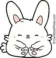 cute cartoon bunny rabbit