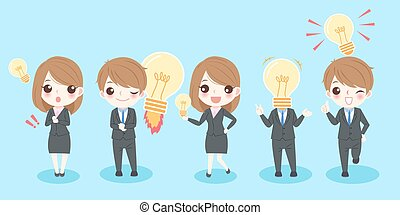 business people with idea