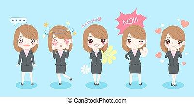 cute cartoon business woman