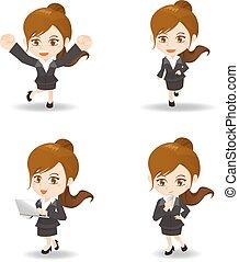 cute cartoon businesswoman