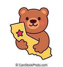 Cute cartoon California bear