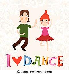 Cute cartoon card in bright colors