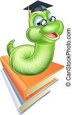 Cute Cartoon Caterpillar Worm - Happy cartoon caterpillar...