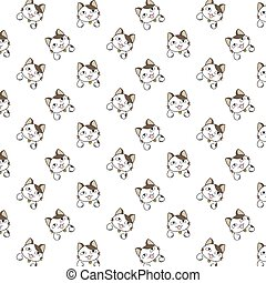 Cute Cartoon Cats Pattern.