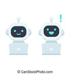 Cute cartoon chat bot