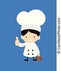 Cute Cartoon Chef - Showing a Thumb Up