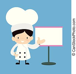 Cute Cartoon Chef - Showing on White Board