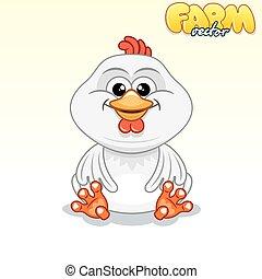 Cute Cartoon Chicken