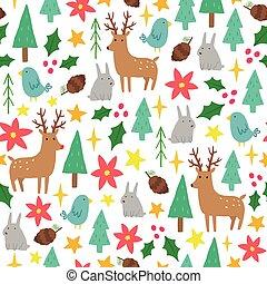 Cute cartoon Christmas background