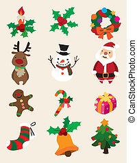 cute cartoon Christmas element