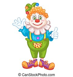 Cute cartoon clown.