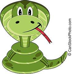Cute Cartoon Cobra Snake