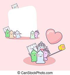 cute cartoon condom