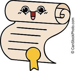 cute cartoon contract