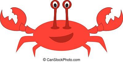 Cute cartoon crab vector illustration